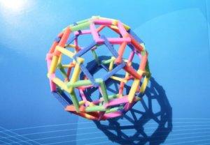 construction imprimée en 3d plastique couleurs pastel