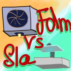 FDM vs SLA illustration